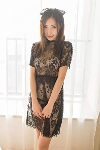 Dames Lingerie Sets Bodysuits Sexy lingerie sexy doorkijk-kant uitsparing jurk prinses meid uniform set