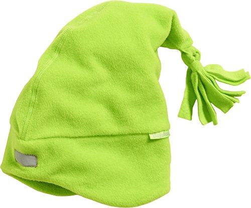 Playshoes Kinder-Unisex Warme Fleecemütze, Zipfelmütze, Oeko Tex Standard 100 Strickmütze, Grün (grün 29), 53 cm