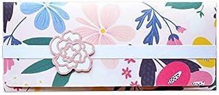 Porta soldi - floreale - cerimonie - matrimonio - busta portasoldi (formato 22 x 9,5 cm) + biglietto d'auguri vuoto all'in...