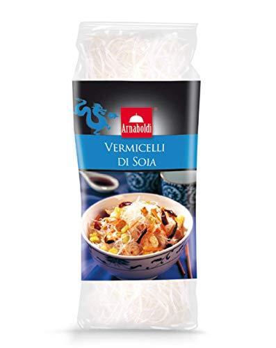 Arnaboldi Vermicelli di Soia, Cibo Tipico Giapponese, Spaghetti di Soia con Zero Calorie, Pronti in Pochi Minuti - [6 Confezioni da 100g]