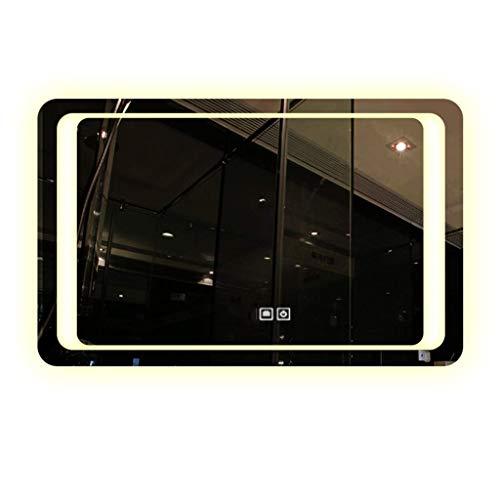 ZHAOJYZ Household Necessities/led-spiegel-wandspiegel, beslaat niet, badkamerspiegel met licht, smart touch-spiegel, vierkant