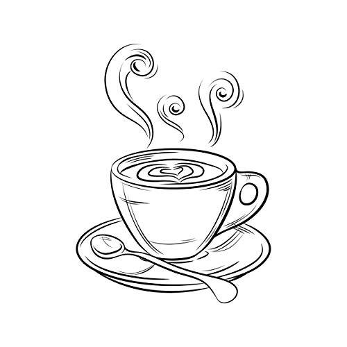 NEWSTAMPS DIE STEMPELMACHER Kaffeetasse Motivstempel aus Holz - 40 x 55 mm - Scrapbook Stempel zum basteln von Karten