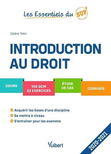 Introduction au droit Les essentiels du sup' 2020-2021