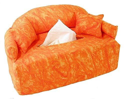 Oranges Minisofa - Taschentuchsofa - Handgefertigt