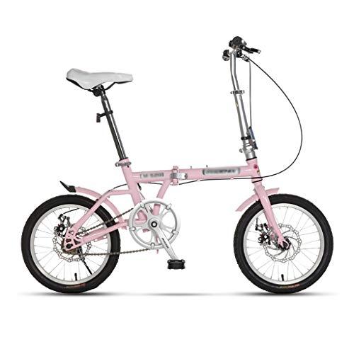 Paseo Bicicleta Bicicleta Plegable Amortiguador de Velocidad Variable Bicicleta portátil Estudiante Adulto...