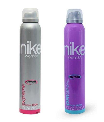 Nike Women Set of 2 (Original, Extreme) Deodorants- 200ml Each BY DODO STORE