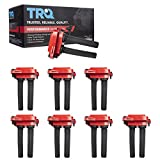 TRQ 8 Piece Premium High Performance Ignition Coil with Boot Kit Set for Ram/Chrysler/Dodge/Jeep