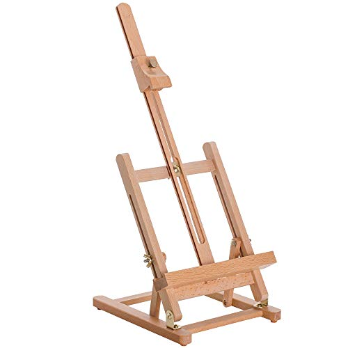 US Art Supply Small Tabletop Wooden HFrame Studio Easel  Artists Adjustable Beechwood Painting and Display Easel Holds Up To 16quot Canvas  Portable Sturdy Table Desktop Holder Stand  Paint Sketch