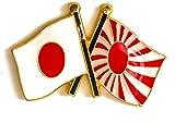 国ピンバッジ(日本×旭日旗)