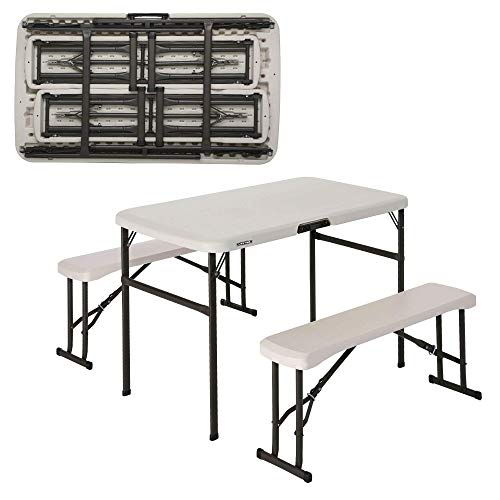 LIFETIME - Conjunto plegable mesa y 2 bancos utrarresistente 106x61x74 cm UV100 (92202)