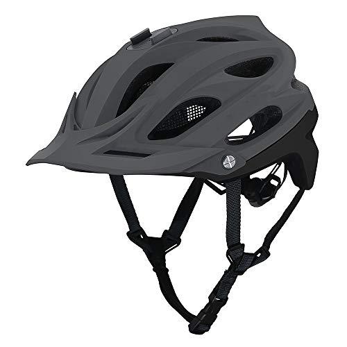 XinMeiMaoYi Casco de montaña de campo de montaña para hombres y mujeres, transpirables, casco de equitación de seguridad se puede equipar con cámaras deportivas (color: gris)