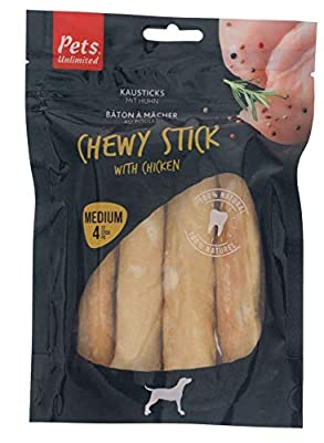 Pets Unlimited Chewy Sticks with Chicken Medium, 4pc