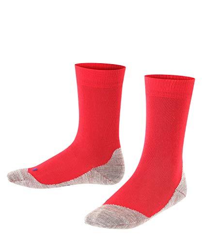 FALKE Kinder Socken Active Sunny Days, Baumwollmischung, 1 Paar, Rot (Fire 8150), Größe: 39-42