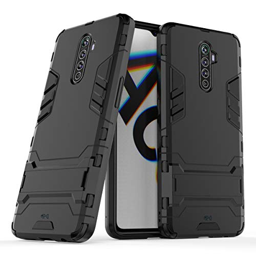 """Max Power Digital Funda para Realme X2 Pro (6.5"""") con Soporte - Carcasa Híbrida Antigolpes Resistente (Realme X2 Pro, Negro)"""