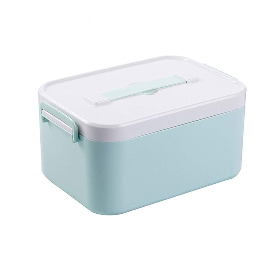百年奨励むしゃむしゃ救急箱、家、旅行、キャンプのための二重層の医学の箱の収納オーガナイザー - 医療は含まれていません (Color : DOUBLE LAYER, Size : M)