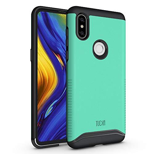 TUDIA Xiaomi Mi Mix 3 Estuche, Slim-Fit [Merge] Extreme Protección/Estuche de Doble Capa Resistente Pero Delgado para Xiaomi Mi Mix 3 (Menta)