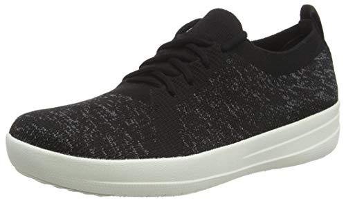 FitFlop Women's F-Sporty Uberknit Sneaker, Black, 8
