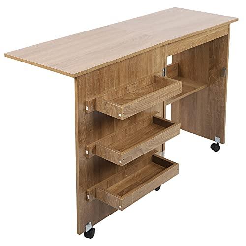 Mesa de coser plegable, mesa de coser equipada con un ajustable para mesa