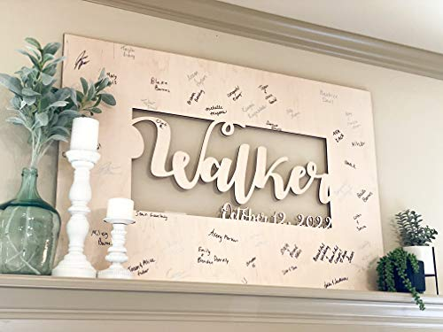 Wedding Guest Book Alternative - Hang This in your House After the Wedding - USA made Wedding Guestbook Ideal guest book for wedding, parties and baby showers!