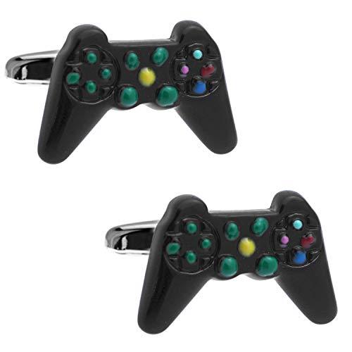 ブラック ゲーム コントローラー カフス カフスボタン カフリンクス n01601