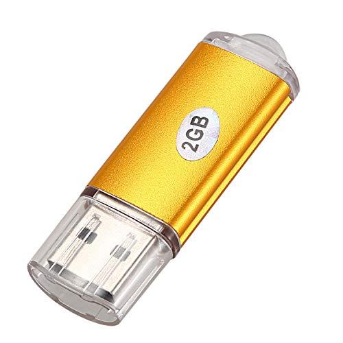 potente para casa SODIAL USB 2.0 Flash Memory Stick Gold Capacidad del disco duro: 2 GB