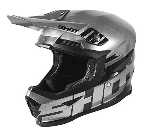 Shot Furious Brush Casco Motocross Grigio scuro metallizzato/Argento