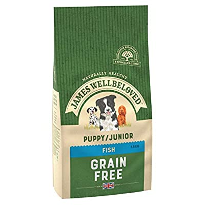 James Wellbeloved Complete Dry Puppy Junior Dog Food Fish and Vegetable, 1.5 kg