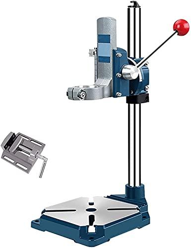 WSVULLD Soporte de prensa de taladro con vice, soporte de prensa de taladro para herramientas rotativas, prensas de taladro de mesa para taladro de mano, herramienta de reparación de estaciones de tra