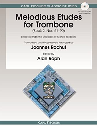 O1595X - Melodious Etudes for Trombone Book 2: Nos. 61 - 90 by Giovanni Marco Bordogni (2013-01-01)