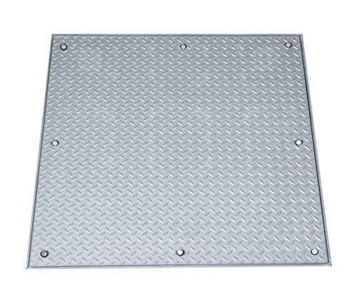 Schachtabdeckung A15 Schachtdeckel, Edelstahl, Tränenblech Aufbauhöhe 60 mm (300 mm x 300 mm)