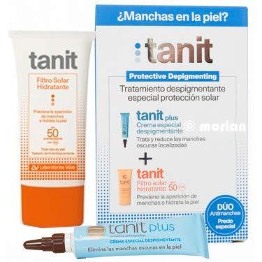 Tanit PACK Crema Despigmentante, 15ml+Filtro Solar SPF50, 50ml