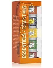 Kusmi Tea - Estuche Les Essentiels - Tés Verdes, Tés Negros e Infusión - Mezclas embaladas en Francia - Latas de té de metal 5 x 25 g