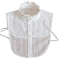 yanhonin Mujer Falso collar cuello, cuello desmontable demi-shirt, ropa accesorio