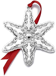 Wallace 2019 Grande Baroque Snowflake-22nd Edition Holiday Ornament, Metal