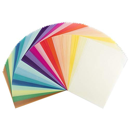 100 Transparentpapiere, DIN A4, 20 Farben, 130 g/m² | buntes Papier zum Basteln, Scrapbooking, Kartengestaltung, DIY u.v.m.