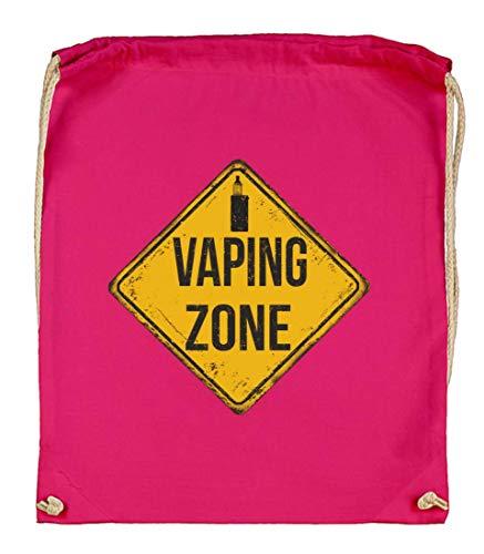 Druckerlebnis24 Vaping Zone - Bolsa de tela para cigarrillos eléctricos (algodón bio),...