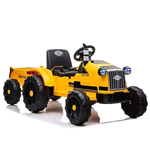Samanth 9959 Tractor Dual Drive 35W Battery 12V7AH1 with Remote Control with Rear Bucket Yellow