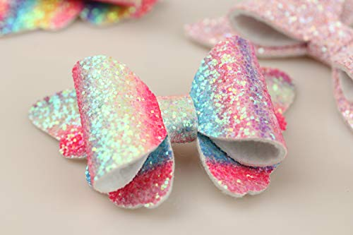 XIMA 10pcs Glitter Hair Bows Clips For Kids Girls Butterfly Hair Pin Accessoires Sparkly Bows Clips 8