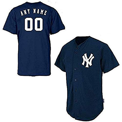 Majestic Athletic Custom Adult Large New York Yankees Full-Button