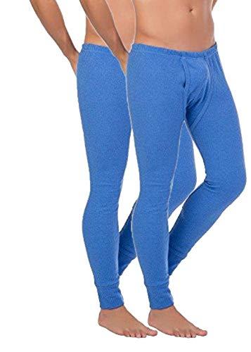 BestSale247 2er Pack Herren Thermo Unterhose Lang -Thermo Unterhemd Männer Skiunterwäsche Thermounterwäsche Baumwolle (Blau, XXL)