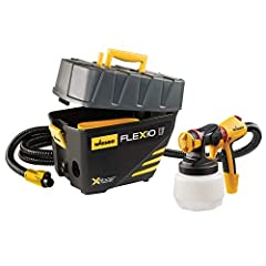 PERFECT FOR A VARIETY OF PROJECTS: The FLEXiO 5000 paint sprayer is great for applying a superior finish on furniture, walls, ceilings, cabinets, trim and more PORTABLE PAINT SYSTEM: The turbine sits on the ground, keeping the weight on the floor and...