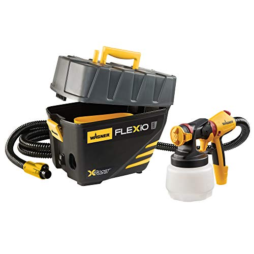 Wagner Spraytech 0529091 FLEXiO 5000 Stationary HVLP Paint Sprayer, Sprays Unthinned Latex, Includes two Nozzles, iSpray Nozzle and Detail Finish Nozzle, Complete Adjustability for All Needs
