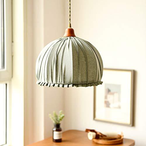 Zenghh Escocia lino linterna araña pequeño arco suave y cálido techo colgante luz americano nórdico japonés algodón lámpara pared lámpara colgante para burbujas de noche tienda de té pasillo