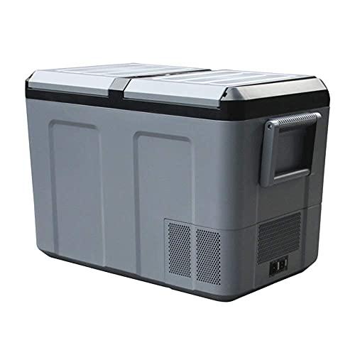 RTOFO LCD Touch Coche Refrigerador Double Puerta Compresor Camión Grande Congelador refrigerado Coche Dual Propósito, 12V / 24V, 110-240V