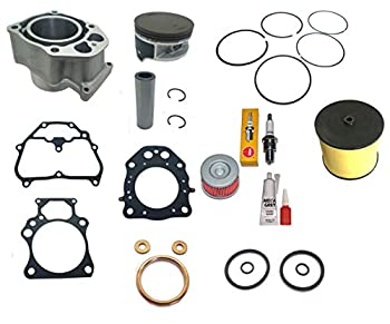 Top Notch Parts Replacement 500 Big Bore Cylinder Kit For 2007 2006 2008 2009 2010 2011 2012 2013 2014 2015 2016 2017 2018 Honda TRX 420 Top End Kit Gasket Air Oil Filter turns your 420 to a 500