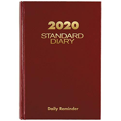 "AT-A-GLANCE 2020 Standard Diary, 5-3/4"" x 8-1/4"", Medium, Red (SD3891320)"