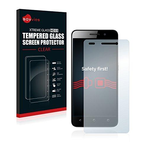 Savvies Panzerglas kompatibel mit Huawei G Play Mini - Echt-Glas, 9H Härte, Anti-Fingerprint