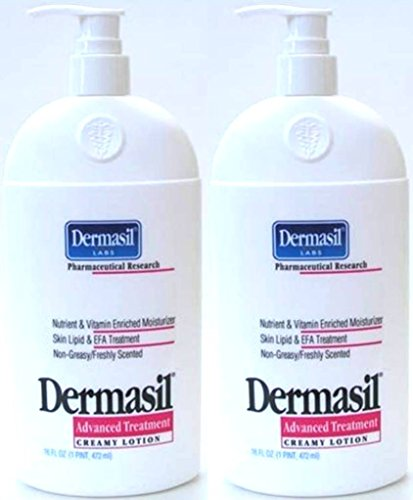 Dermasil Labs Pharmaceutical Research Advanced Treatment Creamy Lotion Freshly Scented 14.5 fl oz (Pack of 2)