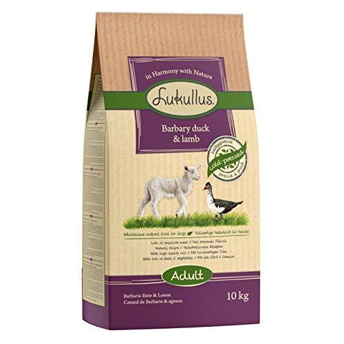Lukullus Adult Kaltgepresstes und Glutenfreies Trockenfutter mit Barbary Ente, Lamm mit Kartoffeln 10 kg