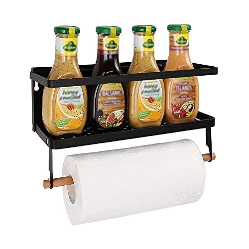 Organizador magnético de especias para nevera, imán para nevera, cocina, especias, hierbas, tarros de baño, organizador de papel para toallas